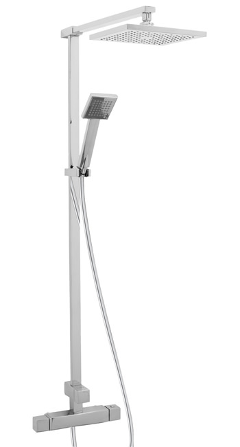 Large Image of Deva Savvi Thermostatic Bar Shower With Rigid Riser Kit And Diverter