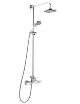 Vision Thermostatic Bar Shower With Rigid Riser Kit And Diverter