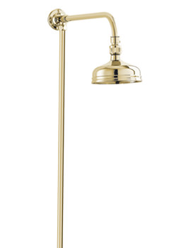 Period Style Rigid Riser Shower Kit Gold - KITS08-G