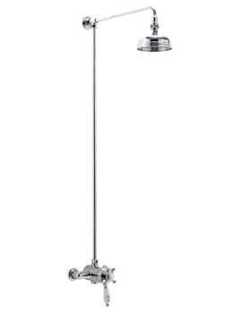 Georgian Thermostatic Shower Valve With Rigid Riser And Rose