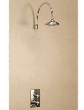 Burlington Trent Concealed Thermostatic Valve With Curved Arm And Rose