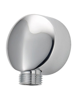 Round Wall Union With Ridge Chrome - SPE03