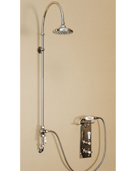 Trent Concealed Thermostatic Shower Valve With Vertical Riser And Rose