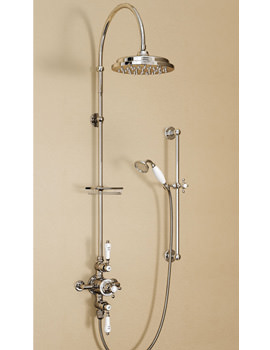 Avon Exposed Thermostatic Valve With Rigid Riser And Curved Arm