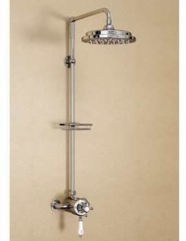 Wye Exposed Thermostatic Valve With Rigid Riser And 9 Inch Rose - H5-CL