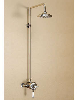 Wye Exposed Thermostatic Valve With Rigid Riser And Straight Arm