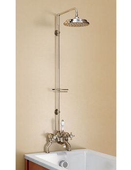 Bath Shower Mixer With Straight Shower Arm And 9 Inch Rose