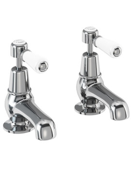 Kensington Chrome Plated 3 Inch Basin Pillar Taps - KE1
