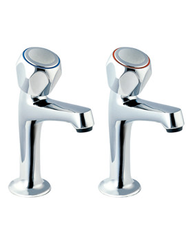 Deva Profile High Neck Kitchen Sink Taps With Metal Back Nuts