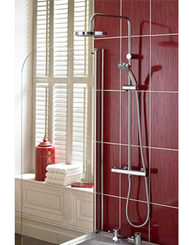 Carre Thermostatic Bar Shower Valve With Rigid Riser - CR SHXDIVFF C