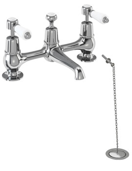 Kensington 2 TH Bridge Basin Mixer Tap - KE10