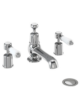 Kensington 3 TH Basin Mixer Tap With Pop Up Waste - KE12