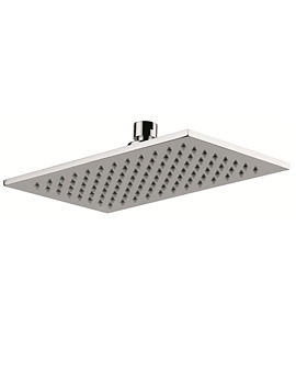 Euphoria Slim-Line 7mm Rectangular Showerhead 250mm x 150mm