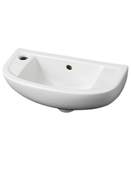 Related RAK Compact 1 Tap Hole Slimline Basin 450mm Left Hand - COMSLWB1LH