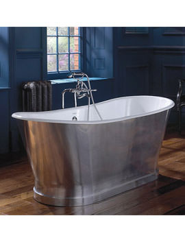 Radison Cast Iron Bath In Polished Aluminium 1700mm - CI000107