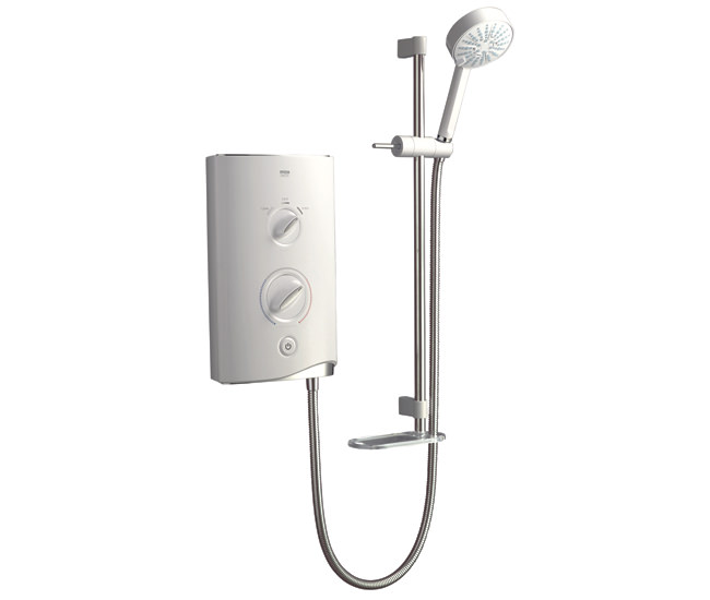 Large Image of Mira Sport Electric Shower 10.8kW White And Chrome - 1.1746.004