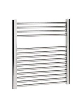 Bauhaus Design Flat Panel Towel Rail 600 x 690mm Chrome - DE60X69C