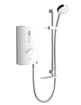 Mira Sport Max Electric Shower 10.8kW With Air Boost - White And Chrome - 1.1746.008 - Image