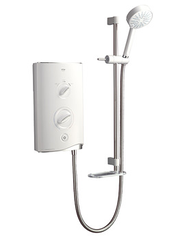 Sport Thermostatic Electric Shower 9.8 KW White and Chrome