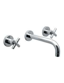 Elements Water 3 Hole Basin Mixer Tap With 200mm Spout