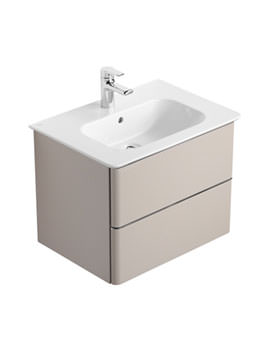 Ideal Standard Softmood 600mm Basin Unit Brown - T7800S5