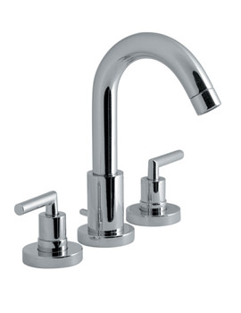 Elements Air 3 Hole Basin Mixer Tap With Pop-Up Waste