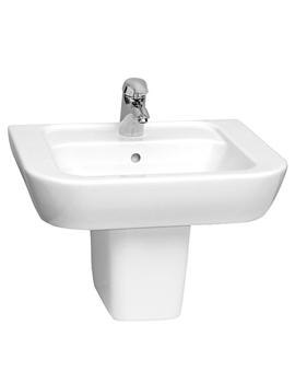Related VitrA Retro Cloakroom Basin 55cm And Half Pedestal - 5214B003-0999