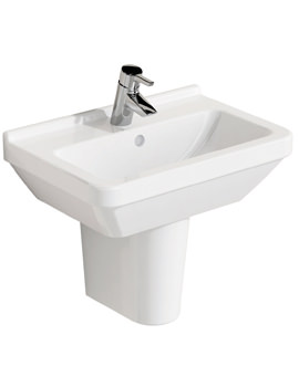 S50 Compact Basin 550 x 375mm With Full Pedestal
