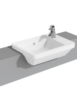 S50 Compact 550mm Square Semi-Recessed Basin Right Handed