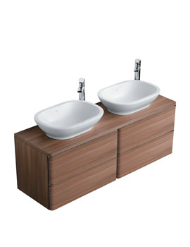 Softmood 1400mm Basin Unit Walnut - T7803S6