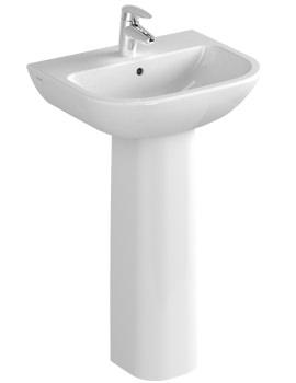 VitrA S20 1TH Cloakroom Basin 50cm - 5501L003-0999