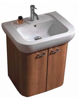 VitrA Retro Dark Cherry Under Cupboard Unit With Washbasin - 80073