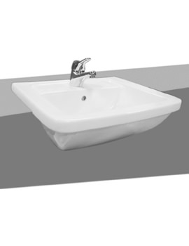 VitrA Form 300 Semi-Recessed Basin 550mm - 5230B003-0001