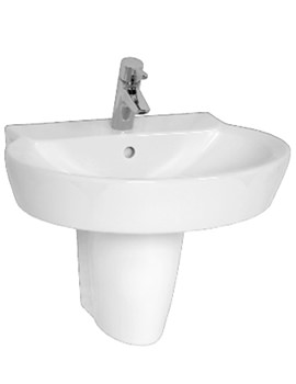 Sunrise Washbasin 60cm And Large Half Pedestal