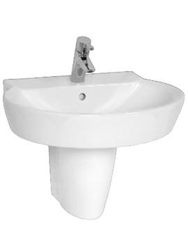 VitrA Sunrise Washbasin 60cm And Large Half Pedestal