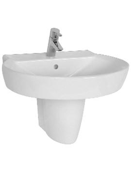 Related VitrA Sunrise Washbasin 65cm And Large Half Pedestal