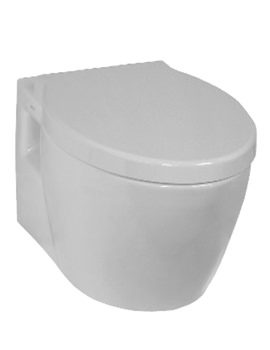 VitrA Sunrise Wall Hung WC Pan With Toilet Seat - 5384B003-0075