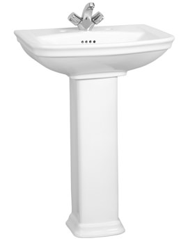 Serenada 1TH Washbasin 60cm With Full Pedestal - 4167B003-0999
