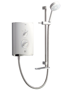 Sport Multi-Fit Electric Shower 9.8kW White And Chrome 1.1746.010