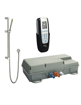Remote Digital Shower With Slide Rail Kit - AX324 - A3214