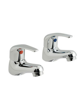 Matrix Deck Mounted Basin Pillar Taps - MAT-106