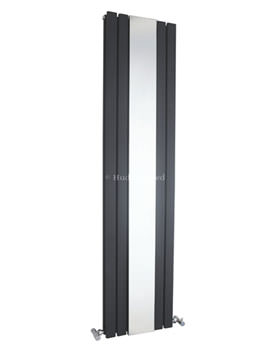 Sloane Anthracite Double Panel Radiator With Mirror - HLA84