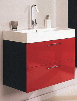 Related Hudson Reed Red And Black Contrast Basin And Cabinet - RF012