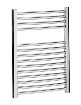 Image of Bauhaus Stream Curved Towel Rail Chrome Finish 500 x 690mm | ST50X69C