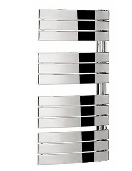 Essence 550 x 1080mm Curved Flat Panel Towel Rail Chrome