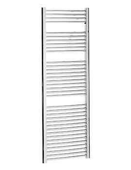 Image of Bauhaus Stream Curved Towel Rail Chrome Finish 600 x 1700mm | ST60X170C