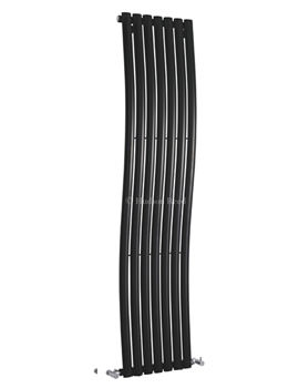 Revive 413 x 1785mm Wave Black Designer Radiator