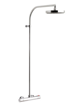 Velo Thermostatic Shower Valve With Rigid Riser Kit - VEL-149-RRK