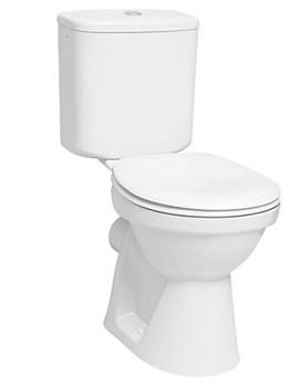 VitrA Milton Close-Coupled WC-Cistern-Toilet Seat - 5111L003-0075