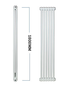 Apollo Roma Vertical Steel 2 Column Radiator 600 x 1800mm